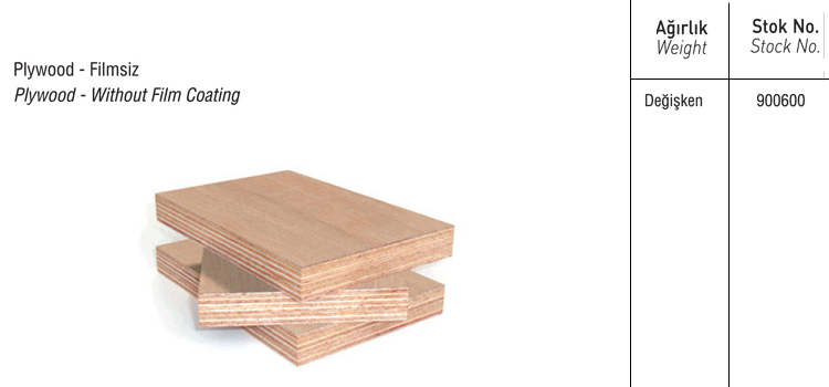 PLYWOOD FİLMSİZ